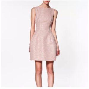 Zara Woman Pink Tweed Tulip Dress